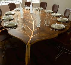 dining table leaf hardware: diy unique rustic dining set design diy wooden dining table in leafs shapes diy classic