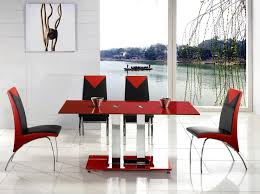 red black dining chair