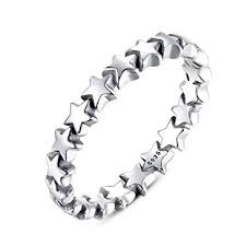 BAMOER 925 Sterling Silver Stars Ring Size 6-9 for ... - Amazon.com