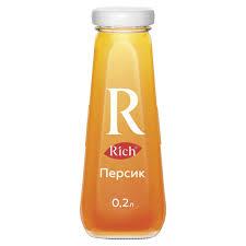 Купить <b>Нектар RICH</b> (<b>Рич</b>) 0,2 л, персик, стеклянная бутылка ...