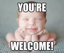 youre welcome baby memes | quickmeme via Relatably.com