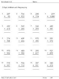 3 Digit Addition Worksheets with RegroupingD. Russell