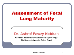 ua flashcards unit  fetal lung maturity