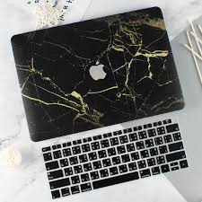 Black Gold Men Fashion <b>Marble Print Hard</b> Case for <b>New</b> Macbook ...