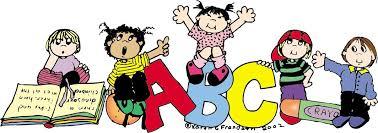 Children climbing on ABC's Clipart