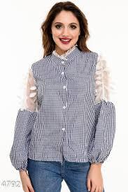<b>Женские рубашки</b> в <b>клетку</b>: купить <b>рубашку</b> в <b>клетку</b> в России в ...
