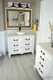 inspiration bathroom vanity chairs: step by step tutorial to turn an old dresser into bathroom vanity