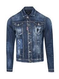 <b>Dsquared2</b> голубая <b>куртка</b> из темного денима с потертостями ...