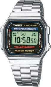 <b>Мужские</b> наручные <b>часы Casio A-168WA</b>-<b>1</b> кварцевые