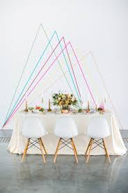 wall ideas inspiration empty cute cheap decor ideas bloved spring style tribe geomtric wedding insp