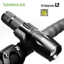 NEWBOLER <b>Bicycle Light 5 Mode</b> XM-L2 LEDront Torch (With ...