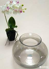 ROZETKA   <b>Ваза Hakbijl Glass</b> Monroe 17 см Дымчатая ...