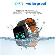 <b>A6</b> smartband <b>smartwatch IP67</b> Waterproof Heart Rate Blood ...