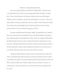 descriptive essay exampleworld of examples world of examples descriptive essay english 101 the beach by tdrake53 y3z6hy8x