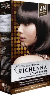 Richenna 4N <b>Крем</b>-<b>краска для волос с</b> хной (Brown) – купить в ...