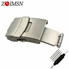 <b>ZLIMSN</b> Stainless Steel Belt Buckles Brushed <b>Watch Bands</b> ...