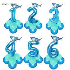 <b>Twins</b> 15Pcs Boxing Shark Baby Balloons Shark Themed Birthday ...