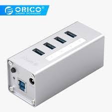 <b>ORICO A3H4</b> 4 Port <b>Aluminum Alloy</b> USB 3.0 HUB For Laptop With ...