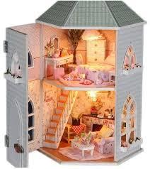 diy kids miniature doll house toy castle wooden by barvazon10 aliexpresscom buy 112 diy miniature doll house