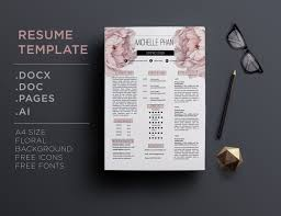 resume templates com floral cv template resume template by chic templates