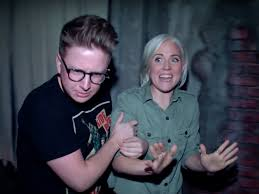 check out a haunted house with tyler oakley hannah hart check haunted house