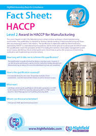 level award in haccp for manufacturing safe system for click on the image to see it in full size