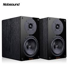 <b>Nobsound NS-1900 Wood 100W</b> 1 Pair 5.5 inches Bookshelf ...