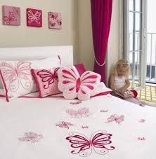 charming girls bedroom with pink butterflies charming kid bedroom design