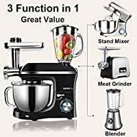 MIC 5.5L <b>Large</b> Capacity Electric Stand <b>Mixer</b> Meat Grinder Juice ...