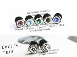 <b>316L</b> stainless steel <b>crystal</b> earrings for <b>men</b>/<b>women</b>/unisex earrings ...