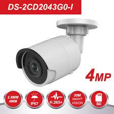 hik 4mp poe ip camera h 265 ds 2cd1143g0 i hd cmos network dome cctv cameras 30m ir clear night version p2p remote access