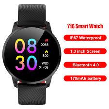 Mojoyce <b>Y16 Smart</b> Watch Heart Rate Monitor Fitness Tracker IP67 ...