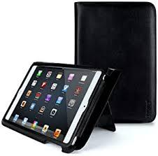 iPad Mini Slim Folio Genuine <b>Cowhide Leather Case</b> with Built in ...