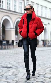 Todays Outfit | Red <b>Puffer Jacket</b> Tap link now to find the products ...