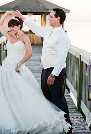 beach wedding decor colorful north carolina