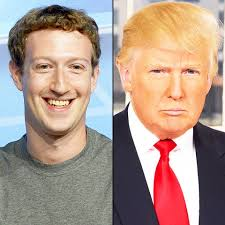 Image result for Mark zuckerberg plus trump photo