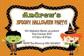 halloween birthday invitations template