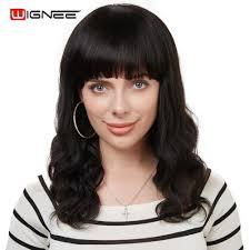 <b>Wignee</b> Brazilian Body <b>Wave Human</b> Hair Wig With Free Bangs For ...
