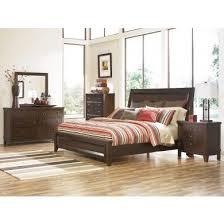 bedroom set main: holloway vintage look medium brown finish  pc queen bedroom set collection main image