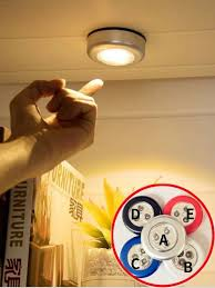 <b>1pc</b> Round <b>LED Cabinet</b> Light | SHEIN IN