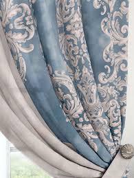 Купить комплект штор «Вэлиос (голубой)» синий/голуб., <b>серый</b> ...