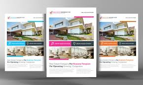 real estate flyer template flyer templates on creative market