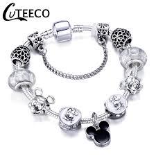 <b>CUTEECO Cartoon Style</b> Mickey Minnie Charm <b>Bracelets</b> 2018 New ...