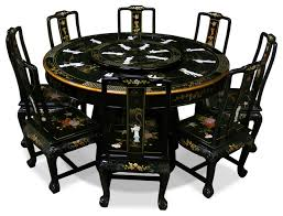 60 black lacquer dining table with 8 chairs asian dining sets black lacquer dining room
