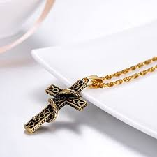Punk Cross <b>Pendant</b> Men Gothic <b>Religious</b> Christian <b>Necklace</b> ...
