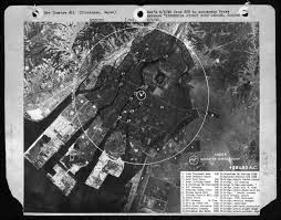 hiroshima professor olsen large a photo prepared by u s air intelligence for analytical work on destructiveness of atomic weapons
