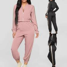 Women <b>2</b> Pcs <b>Running Set 2019</b> Fashion Striped Hooded Tracksuit ...