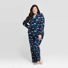 <b>Women's Plus Size Holiday</b> Car Flannel Pajama Set - Wondershop ...