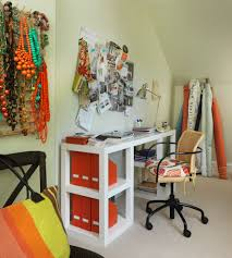 contemporary home office example of a trendy craft room design in providence chic home office design ideas models