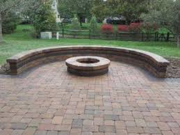 outdoor fireplace paver patio: columbus oh paver patio with retaining wall and fire pit
